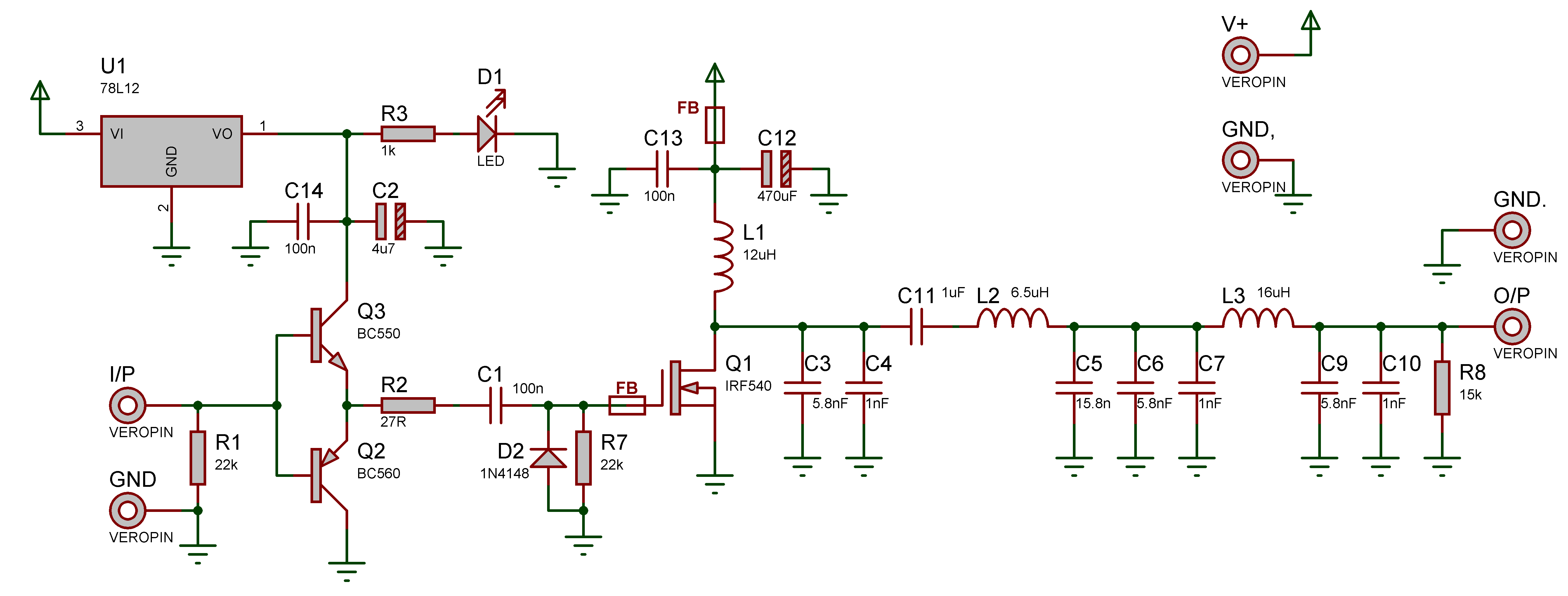 PA Schematic for 472 kHz