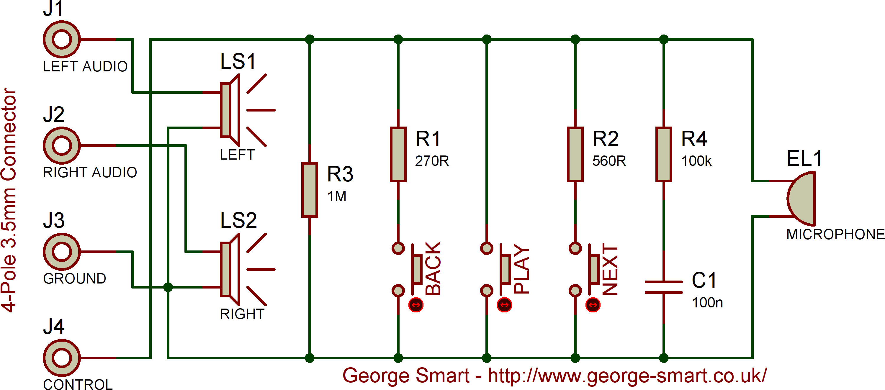 HTC Desire Headset Schematic: Click to enlarge.