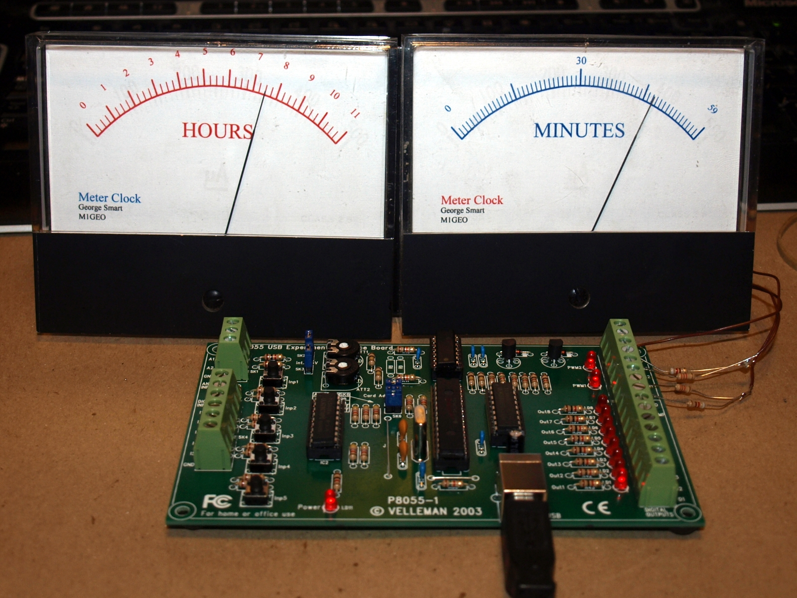 Moving Coil Meter Clock