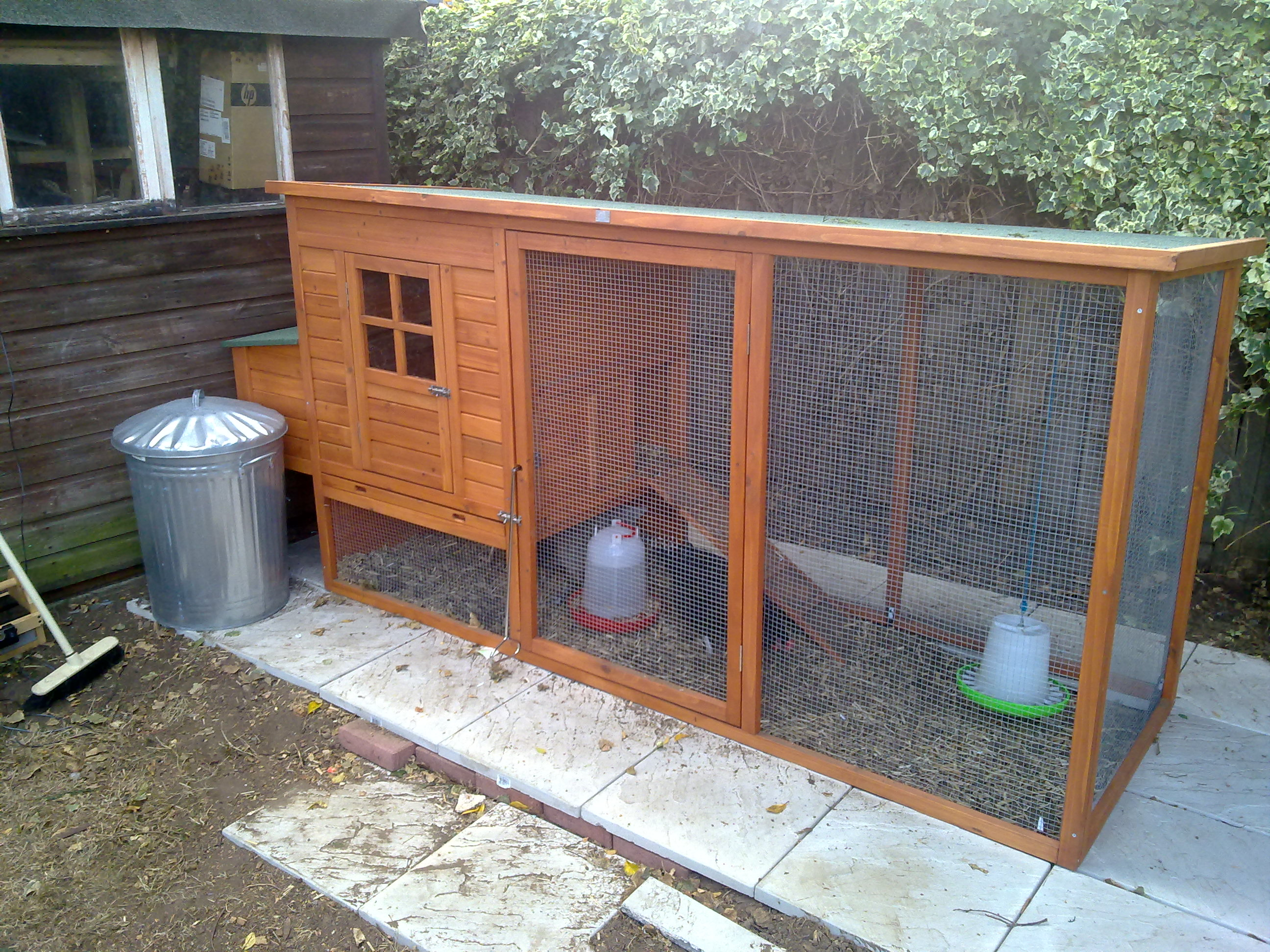 The first chicken house, bought from ComfyPets