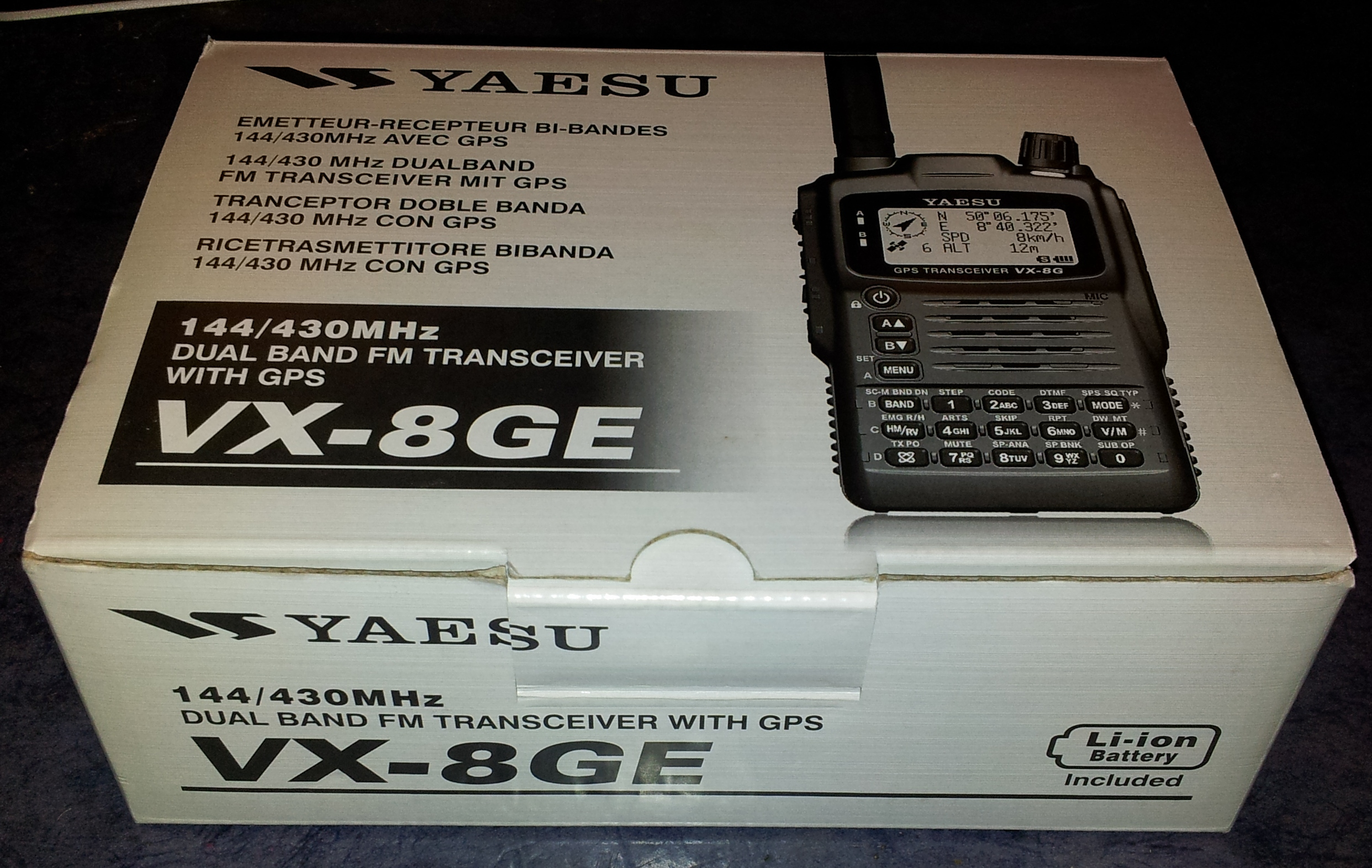 Yaesu VX-8GE Boxed