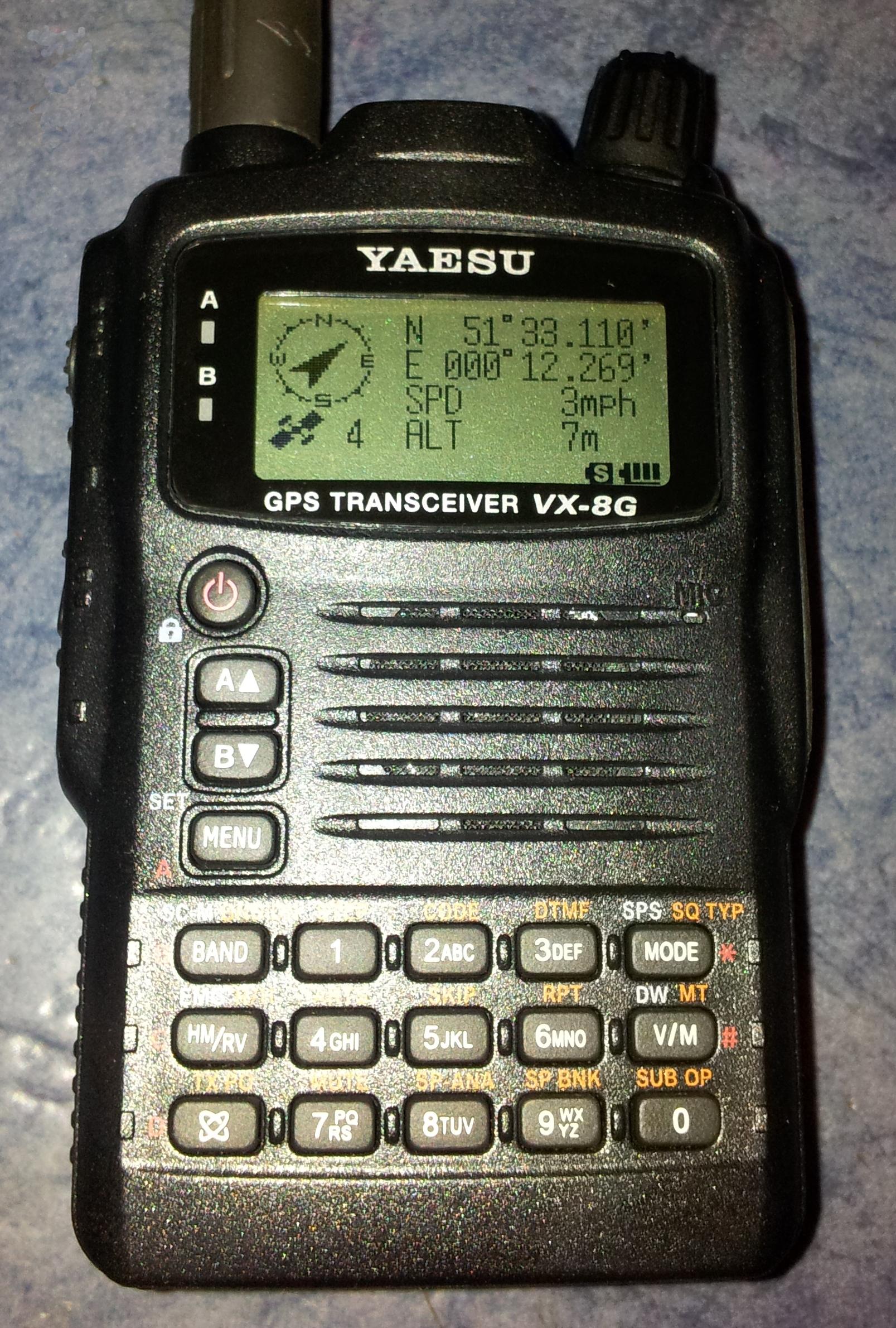 Yaesu VX-8GE GPS Screen