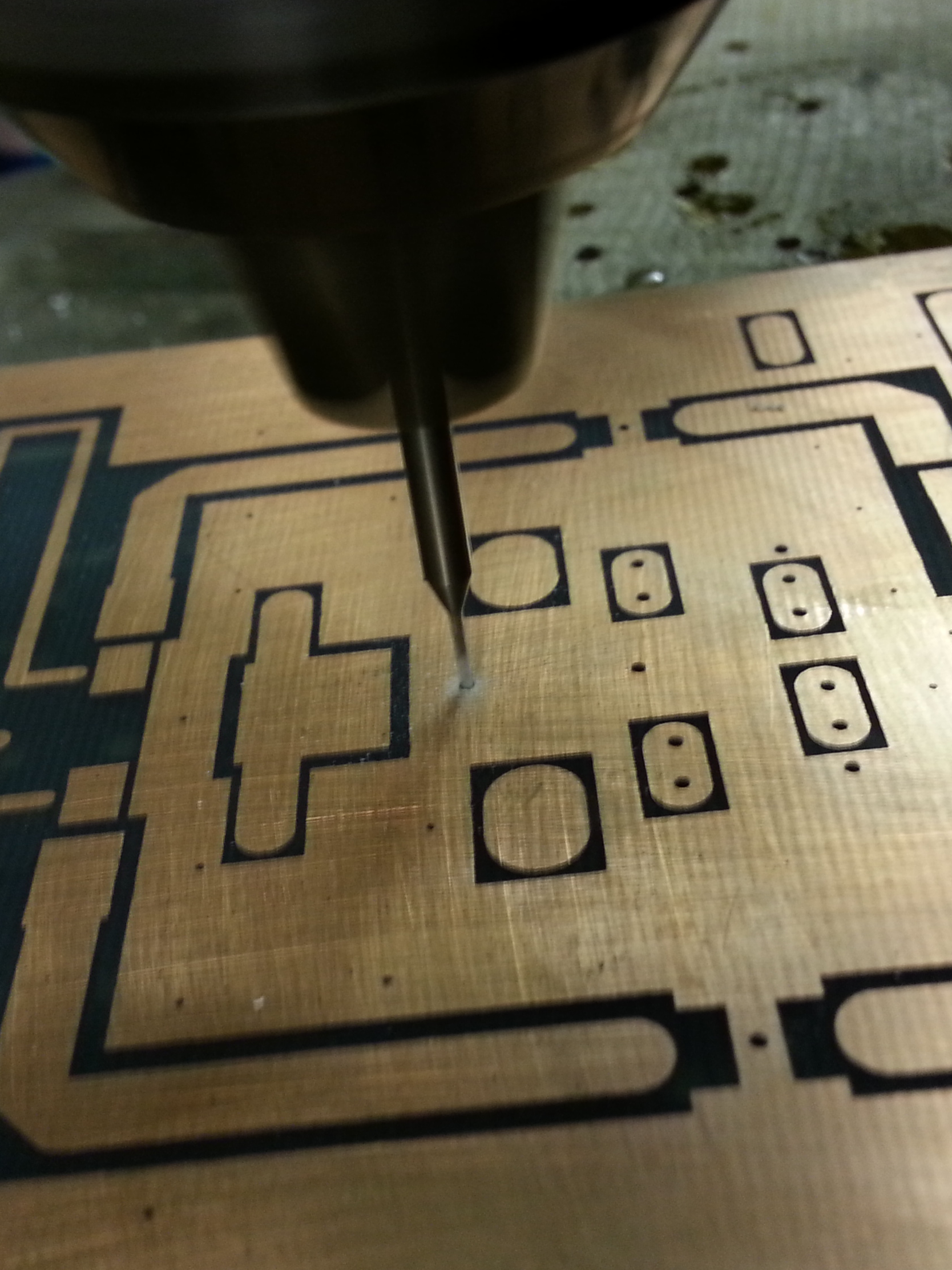 Making the PCB - Drilling