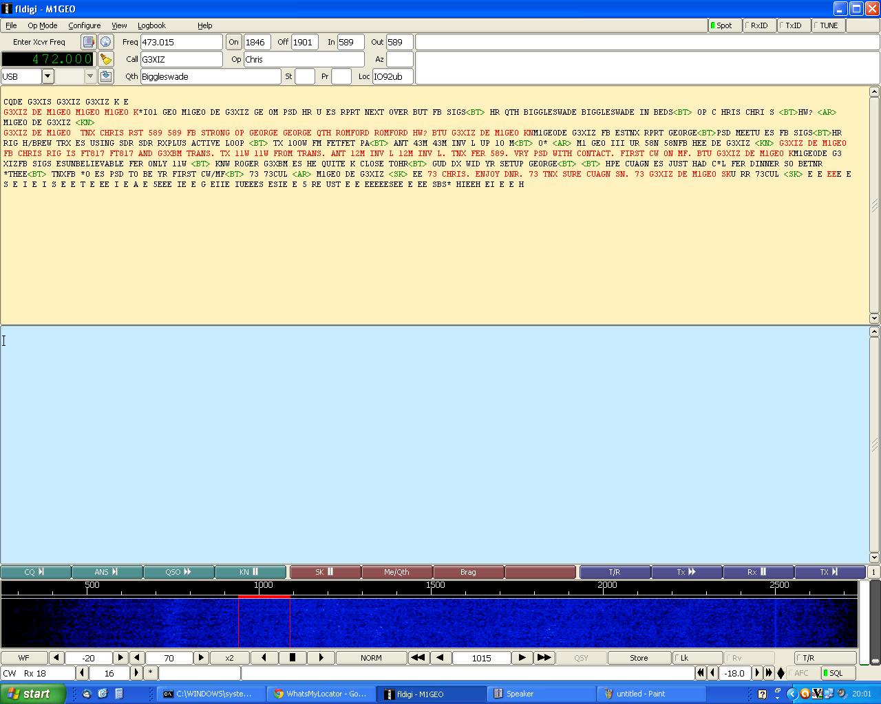 472 kHz Transverter CW QSO
