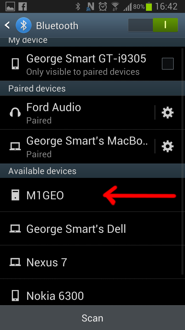 Bluetooth Programming Android Scan