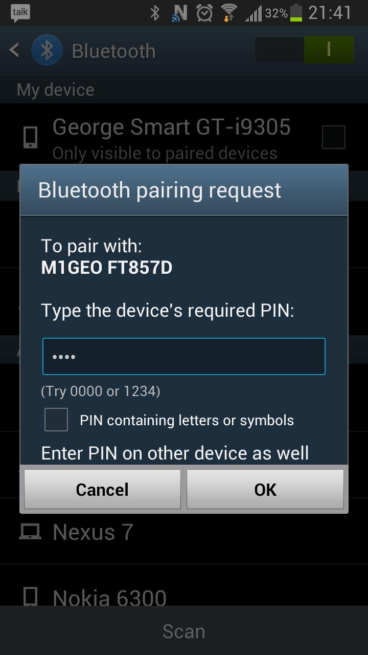 Bluetooth Radio Interface – George Smart – M1GEO