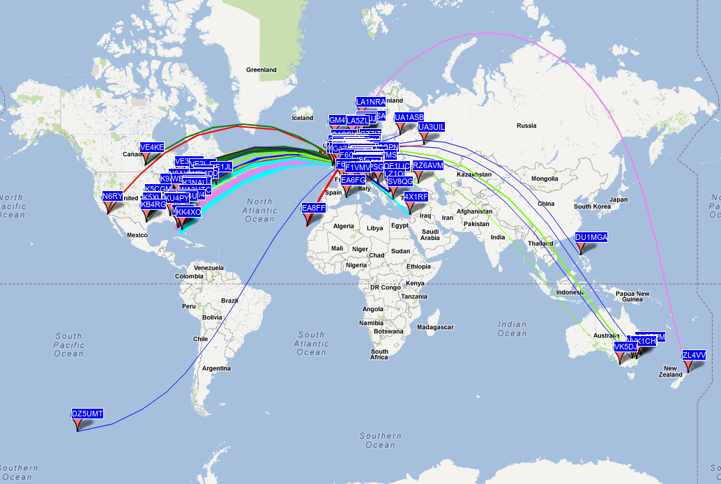 Wspr george smart m1geo wspr map 23 october 2012 gumiabroncs Image collections