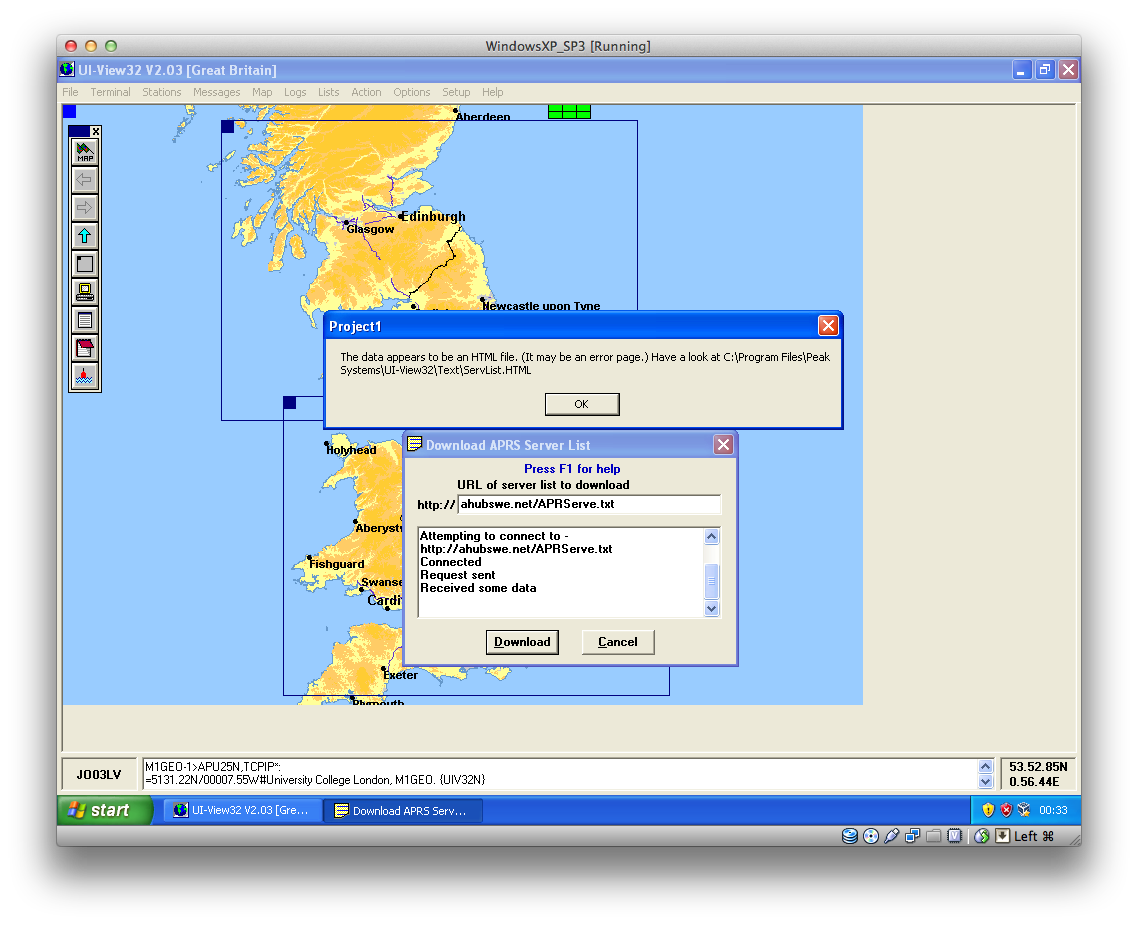 UI-View APRS-IS Settings – George Smart – M1GEO