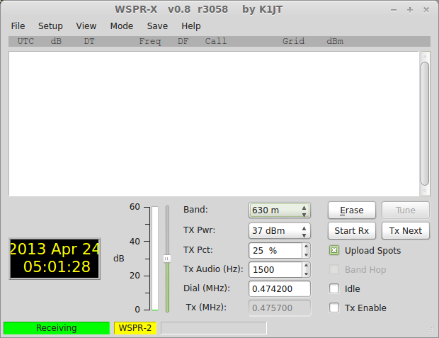 WSPR-X Linux