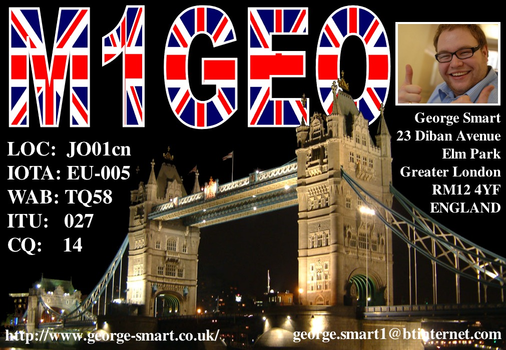 Front of my QSL Card #2