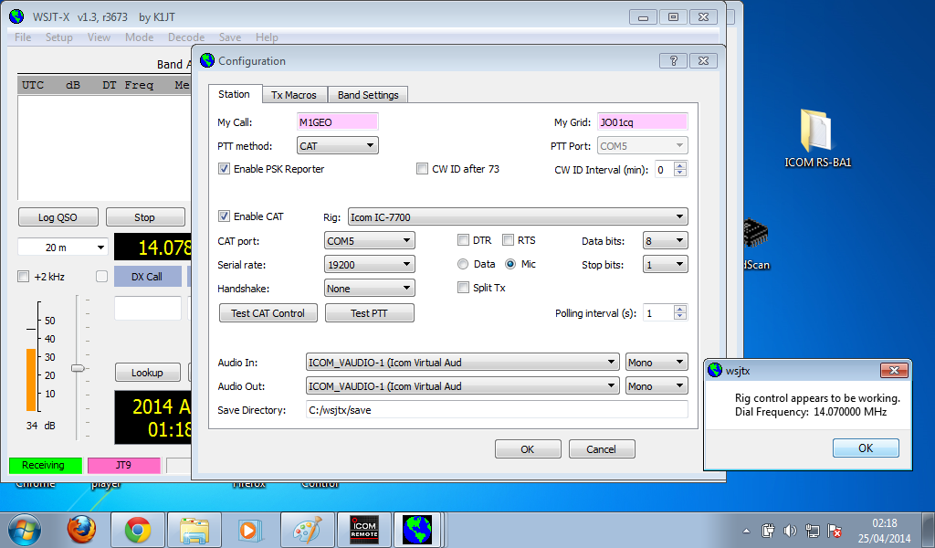 Icom IC7700 and Digital Modes via LAN – George Smart – M1GEO