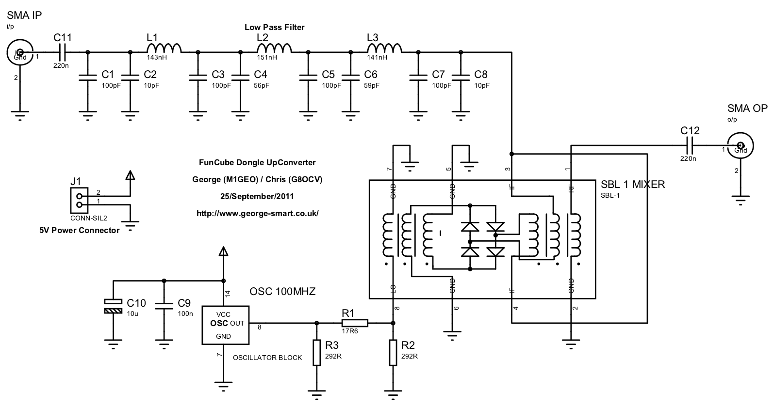 FCD HF Up-converter Schematic