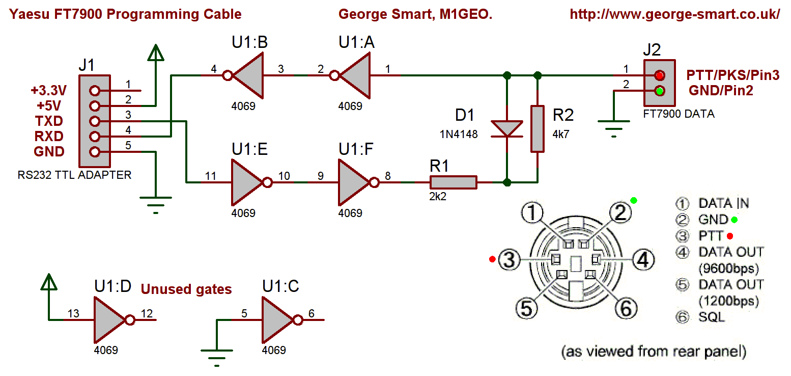 FT7900 Programming Cable Schematic