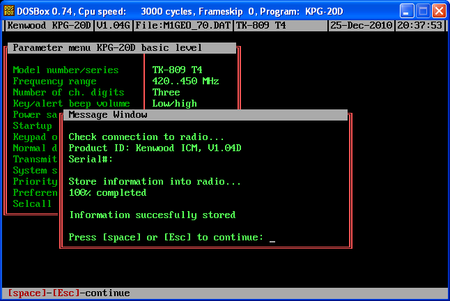 KPG-20D Software