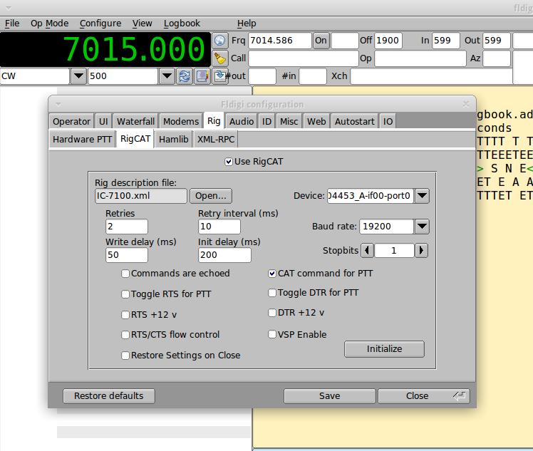 Fldigi IC7100